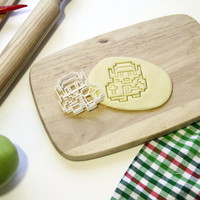 The Legend of Zelda Cookie Cutter 8 Bit Link Cookie Cutter Cupcake topper Fondant Gingerbread Cutters - Made from Eco Friendly Material