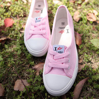 Sweet Candy Color Canvas Shoes