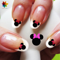 Disney nail art, cartoon, childrens nail art, mickey mouse, 60 Waterslide stickers Decal Nail, nails crystal clear background,