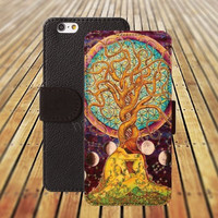 trees life hope tree iphone 5/ 5s iphone 4/ 4s iPhone 6 6 Plus iphone 5C Wallet Case , iPhone 5 Case, Cover, Cases colorful pattern L027