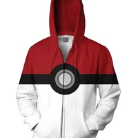 Pokemon Pokeball Zip-Up Hoodie | Sweatshirts from RageOn