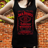jack daniels red tank top for women and men, size S M L XL XXL