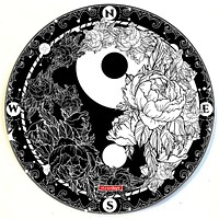 "Yin and Yang 8"" Round Dab Mat"
