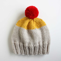 Weekender Hat in Platinum / Yellow / Red - READY TO SHIP