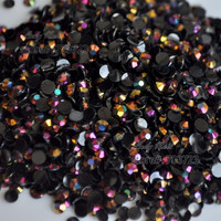 1000 pcs 3mm SS12 AB Milk Jelly Color Resin Rhinestone Acrylic  Flatback DIY Nail Art Decoration Beads Rose Gold AB J15