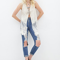 High-Waisted - Distressed Straight-Leg Jeans