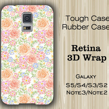 Pink Floral Pattern Samsung Galaxy S5/S4/S3/Note 3/Note 2 Case