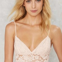 Lace Motive Bra Top - Pink