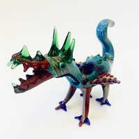 Flying Dragon Glass Figurine Pipe