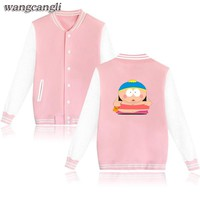 Sitcoms South Park Women Jacket Pink in Eric Cartman Womens Winter Jackets and Coats Plus Size for Autumn 4XL