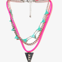 Studded Geo Necklace
