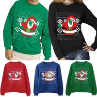 Autumn Winter NEW Xmas Sweaters Ugly Christmas Sweater Couple Matching Clothes Unisex Outfits for Lovers Women Men