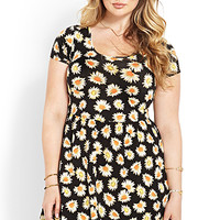 Rustic Daisy Fit & Flare Dress