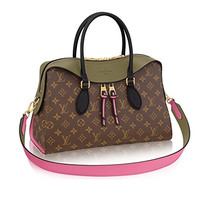 Louis Vuitton Monogram Canvas Tuileries Multi Carry Handbag Khaki Article:M41455 Made in France