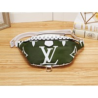 Samplefine2 LV casual lady matching color printed Fanny pack fashion diagonal across the chest bag #1
