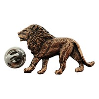 Lion Pin ~ Antiqued Copper ~ Lapel Pin