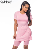Sedrinuo Casual Style Women's Two Pieces Outfits Short Sleeve Rompers Jumpsuits Loose Bodycon 2 Piece Jumpsuit Shorts Playsuits