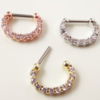ZARIA - 18K gold/silver plated septum nose ring