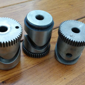 Set of 3 Heavy Metal Gear Pieces Steampunk Industrial Decor Altered Art Supply