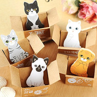 Yosoo Cute Cartoon Animal Cats Notes Stickers Post-it Memo Pads Bookmark Scrapbook DIY Sticky Notes Pack of 5