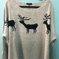 Breana Reindeer Sweater