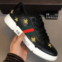 GUCCI Tide brand joint name LI-NING Men's personality wild sports shoes Black