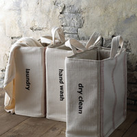 """""""Dry Clean"""" Tote - Red Stripe - French Laundry Home"""