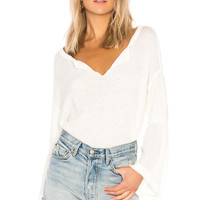 Free People Dahlia Thermal Pullover Sweater in Ivory | REVOLVE
