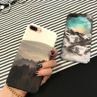 Scenery Landscape forest mountain cases for iphone 7 plus cool fashion covers for iphone 6s 6 6plus cell phone accessories coque