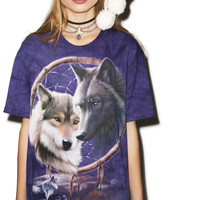 Mountain Dreamcatcher Wolves Tee Multi