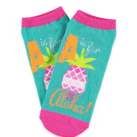 Aloha Pineapple Graphic Socks