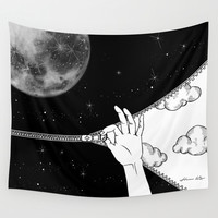 Good Night Wall Tapestry by Henn Kim