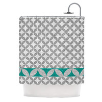 "Nick Atkinson ""Diamond Turquoise"" Shower Curtain, 69"" x 70"" - Outlet Item"