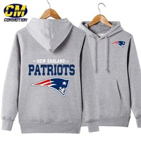 NFL American football Men's casual hoodie fashion sweatshirt outdoor sports pullover New England Patriots
