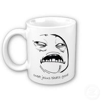 Sweet Jesus That's Good (text) Mug from Zazzle.com