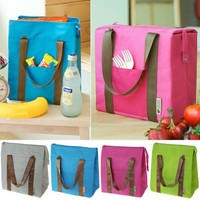 FUNOC® Insulated Tote Waterproof Lunch Bag Cool Cooler Thermal Picnic Food Drink Holder (Green)