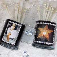 Marilyn Monroe Photos ||  Makeup Brush Holders || 2 Pieces