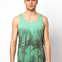 Selected Vest With Palm Tree Print at asos.com