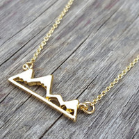 Dainty Tree Branch Necklace | Bar Necklace | Simple Layering Necklace | Nature Jewelry | Tree Twig Necklace | Silver or Gold Minimalist