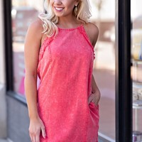 This One's For You Tencel Shift Dress : Coral