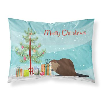Eurasian Beaver Christmas Fabric Standard Pillowcase BB9240PILLOWCASE