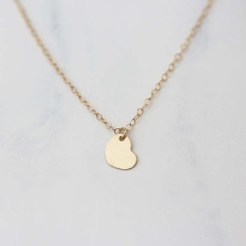Personalized Small Initial Heart Necklace / Monogram Heart Necklace
