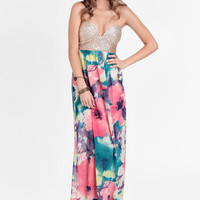 Dreamscape Bustier Maxi Dress By Reverse - $74.00 : ThreadSence, Women's Indie & Bohemian Clothing, Dresses, & Accessories
