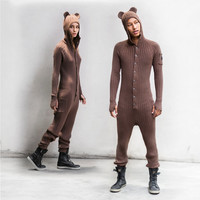 BROWN BEAR SUIT for Adults - One Piece Jumpsuit - Designer Spencer Hansen for Blamo Toys - Long Johns - Nubby Tail - Fireman's Flap