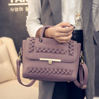Braided Leather Vintage Crossbody Shoulder Bag Handbag