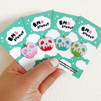 Poison Glitter Apple Enamel Pin - Your Color Choice