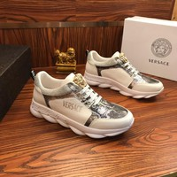 Versace Chain Reaction Sneakers White/silver - Best Online Sale
