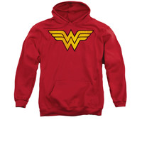 Wonder Woman Distressed Logo Mens/Youth Pullover Hoodie