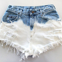 High-Waisted Ombre Shorts