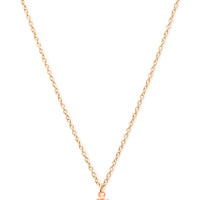 FOREVER 21 Ceramic Floral Pendant Necklace Peach/Gold One
